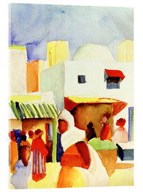 Acrylic print  Market in Tunis I - August Macke