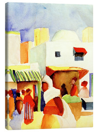Canvas print  Market in Tunis I - August Macke