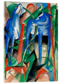 Acrylic print  Creation of the horses (three Fabeltiere) - Franz Marc