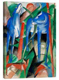 Canvas print  Creation of the horses (three Fabeltiere) - Franz Marc