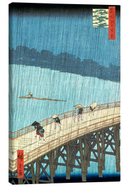 Canvas print  Ohashi bridge in the rain - Utagawa Hiroshige