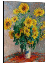 Aluminium print  Sunflower bouquet - Claude Monet