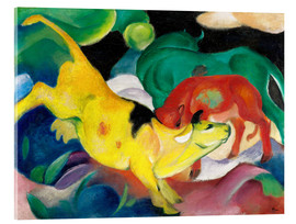 Acrylic print  Cows - yellow, red, green - Franz Marc