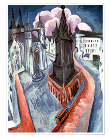 Premium poster The Red Tower in Halle