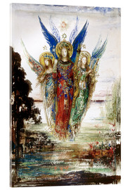 Acrylic print  Job and the Angels - Gustave Moreau