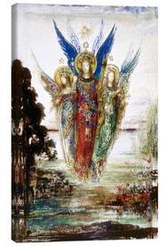 Canvas  Job and the Angels - Gustave Moreau