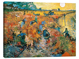 Canvas print  The red vineyard - Vincent van Gogh