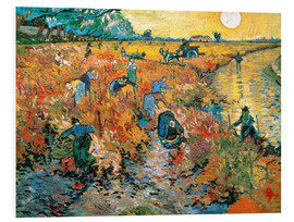 Foam board print  The red vineyard - Vincent van Gogh