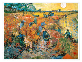 Premium poster  The red vineyard - Vincent van Gogh