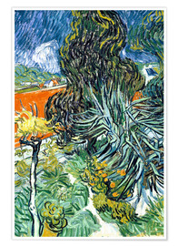 Premium poster The Garden of Dr. Gachet in Auvers