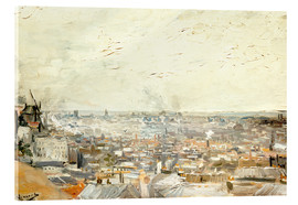 Acrylic print  Roofs of Paris from Montmartre - Vincent van Gogh