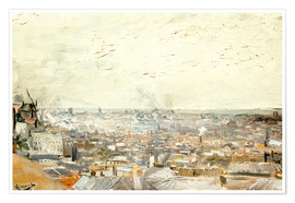 Premium poster Roofs of Paris from Montmartre