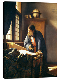 Canvas print  A geographer or astronomer in his study - Jan Vermeer