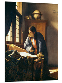 Foam board print  A geographer or astronomer in his study - Jan Vermeer
