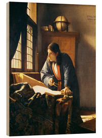 Wood print  A geographer or astronomer in his study - Jan Vermeer