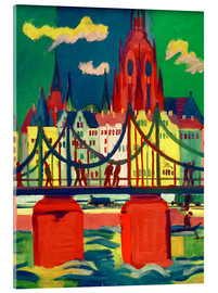 Acrylic glass  Frankfurt Cathedral - Ernst Ludwig Kirchner
