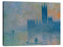 Canvas print  Parliament, Stormy Sky - Claude Monet