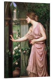 Aluminium print  Psyche opens Cupid's Garden Gate - John William Waterhouse