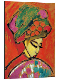 Aluminium print  Young Girl in a Flowered Hat - Alexej von Jawlensky