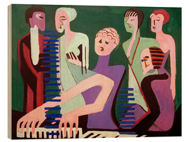 Wood print  Singer at the piano - Ernst Ludwig Kirchner