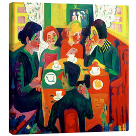 Canvas  Coffee Drinkers - Ernst Ludwig Kirchner