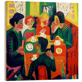 Wood print  Coffee table - Ernst Ludwig Kirchner