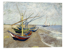 Foam board print  Fishing boats on the beach, Saintes-Marie-de-la-Mer - Vincent van Gogh