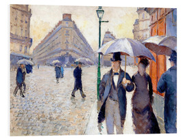 Foam board print  Rainy day in Paris - Gustave Caillebotte