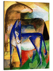Aluminium print  Two blue donkeys - Franz Marc