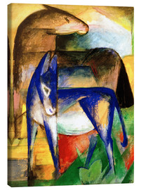Canvas print  Two blue donkeys - Franz Marc