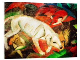 Acrylic print  Three animals (dog, fox and cat) - Franz Marc