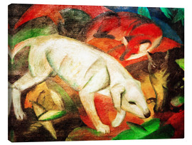 Canvas print  Three animals (dog, fox and cat) - Franz Marc