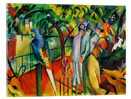 Acrylic print  Zoological garden - August Macke