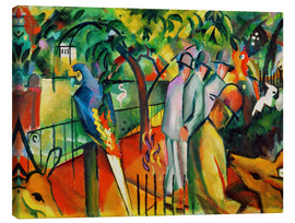 Canvas  Zoological garden - August Macke
