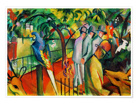 Premium poster  Zoological garden - August Macke
