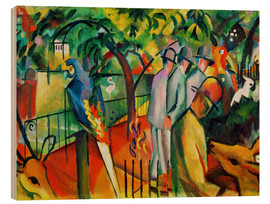 Wood print  Zoological garden - August Macke