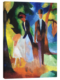 Canvas  People at the blue lake - August Macke