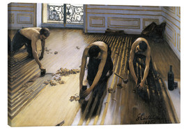 Canvas  The Parquet Planers - Gustave Caillebotte