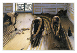 Premium poster  The parquet planers - Gustave Caillebotte