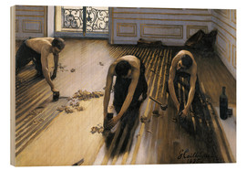 Wood print  The parquet planers - Gustave Caillebotte