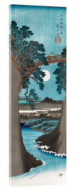 Acrylic print  The Monkey Bridge in Kai Province - Utagawa Hiroshige