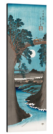 Aluminium print  The Monkey Bridge in Kai Province - Utagawa Hiroshige