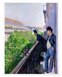 Premium poster  Balcony on Boulevard Haussmann - Gustave Caillebotte
