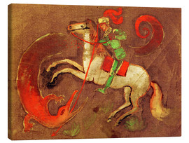Canvas print  Knight George and dragon - August Macke