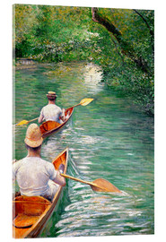 Acrylic print  Paddle boats - Gustave Caillebotte