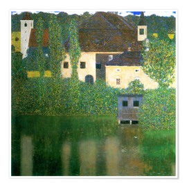 Premium poster  Castle chamber on the Attersee I - Gustav Klimt