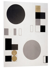 Foam board print  Composition with circles and rectangles - Sophie Taeuber-Arp