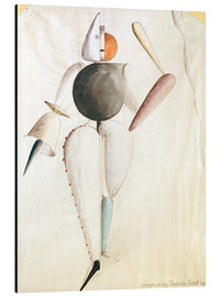 Aluminium print  Design for the Triadic Ballet - Oskar Schlemmer
