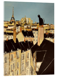 Acrylic print  No scared of heights in Paris - JIEL