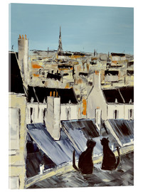 Acrylic print  Cats on the roof - JIEL